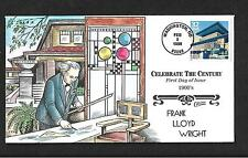 Celebrate the Century, Robie House Frank Lloyd Wright FDC, HP Collins 1900s 3182