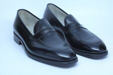 Alden 3557 Plaza Black Calf Leather Penny Loafers Shoes Made in USA Size 11 D