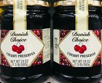 2Pk 24oz Danish Choice All Natural Cherry Preserves *~* FREE EXPD SHIPPING ! *~*