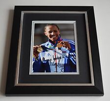 More details for dame kelly holmes signed 10x8 framed photo autograph olympics aftal & coa