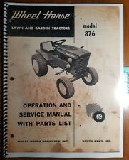 Wheel Horse 876 Lawn Garden Tractor Owner Operator & Service & Parts Manual 8/65