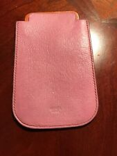 Authentic HERMES Cell Phone Case iPhone 4 4S Holder Swift Leather Perforated