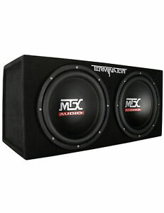 """MTX Terminator Dual 12"""" Subwoofer/Amp pack with wires"""