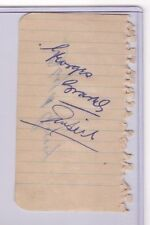 GEORGES GRAVEL NHL REFEREE D.1959 & FLOYD CURRY D.2006 SIGNED AUTOGRAPH PAGE