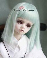1 3 8-9 Bjd Wig BJD MSD DOC DD SD DZ PULLIP DOD LUTS Dollfie Doll wigs blue 54