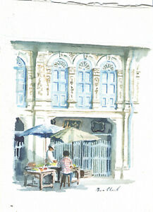 2 Very Good Southeast Asian Watercolors Bruce CHURCH British Noted Artist