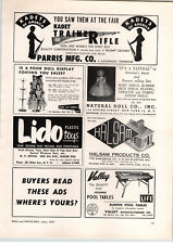 1957 PAPER AD Parris Toy Company Kadet Trainerifle Training Rifle Natueal Doll