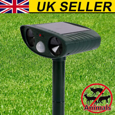 Solar Battery Cat Repeller Animal Chaser Scarer Ultrasonic Deterrent Repellent