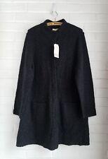 Eileen Fisher Woman Cardigan Sweater Coat Gray Boucle Organic Wool Alpaca 1x