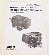 Kohler Courage/Pro Vertical Crankshaft Engine Owner's Manual 15-17 HP