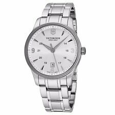 Victorinox Swiss Army Men's Alliance Silver Dial Steel Date Quartz Watch V241712