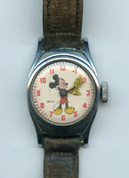 Mickey Mouse Watch Walt Disney Vintage Ladies Time US Ingersoll - BH795