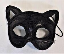 Black Cat Eye Half Mask Masquerade Fancy Party Halloween Costume Mask New