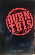 Landord Wilson Signed BURN THIS Broadway Poster - RARE