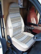 TO FIT A TALBOT EXPRESS MOTORHOME, SEAT COVERS, BEIGE STRIPE, MH-153