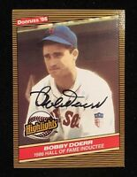 BOBBY DOERR 1986 DONRUSS HOF AUTOGRAPHED SIGNED AUTO BASEBALL CARD 32 RED SOX