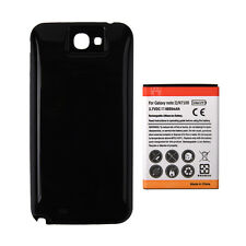 6500mAh Extended Battery + Black Case Cover for Samsung Galaxy note 2 II / N7100
