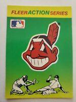 Vintage 80s Cleveland Indians Sticker baseball card