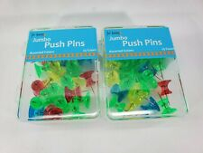 2pack Jumbo Push Pins In Assorted Colors Board Office Pushpin 2 Set Of 25