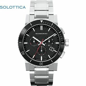 The City Swiss Chronograph Stainless Steel Black Ceramic Bezel Gray Date Dial Me