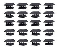 20-Pack 4x4 Black Post Cap Fence LED Solar Lights Outdoor Lighting Lamp Fixture