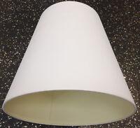 Lampenschirm Baumwolle mit feinen Streifen Textil Stoff weiß Ø34 cm E27 konisch