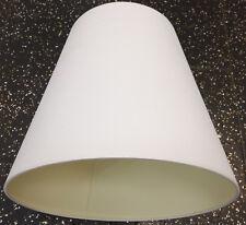 Lampenschirm E27 Ø 34 Textil weiß mit feinen Streifen
