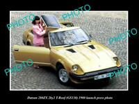 OLD POSTCARD SIZE PHOTO OF 1980 DATSUN 280ZX T-ROOF LAUNCH PRESS PHOTO