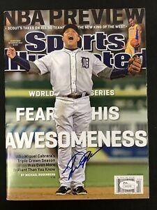 Miguel Cabrera Signed Sports Illustrated 10/29/12 No Label Baseball Auto JSA