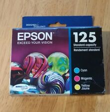 2018 NIB Genuine EPSON 125 Color Inks T125520 (T1252 T1254) T125 NX420 125 127