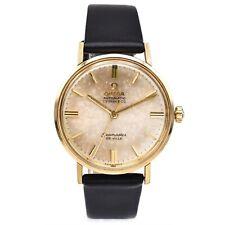 Vintage 1965 14K Gold Omega Seamaster De Ville Tiffany & Co Automatic Mens Watch