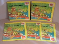 1988 McDonald's toys Muppet Babies 5 Books NOS Happy Meal  Just Kermit and Me !