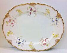 "Wileman Foley Shape ""Floral Sprigs"" Pattern 6744 Oval Serving Platter."