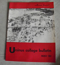 Vintage March 1961 Booklet Ursinus College Bulletin Alumni Journal