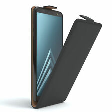 Tasche für Samsung Galaxy A6 Plus (2018) Flip Case Schutz Hülle Cover Schwarz