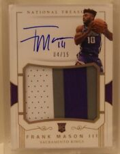 Frank Mason III RC 2017-18 National Treasures FOTL RPA #4/15 Rookie Patch Auto
