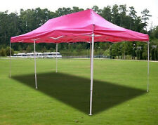 New Deluxe 20' X 10' Pink Gazebo EZ up Canopy Pop Up Tent Sun Shade