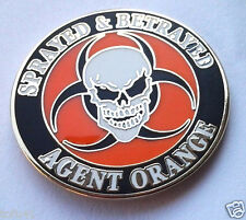 SPRAYED & BETRAYED AGENT ORANGE Military Veteran VIETNAM Hat Pin P14679 EE