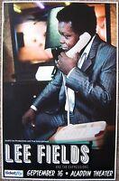 LEE FIELDS 2013 Gig POSTER Portland Oregon Concert