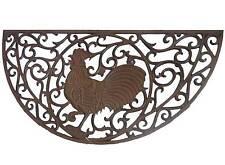 grand tapis gratte pied paillasson grille d entrée en fonte coq gris demi lune