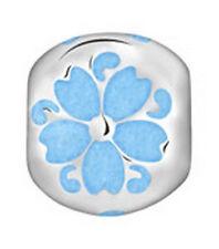 PASTICHE LOVELINKS ENAMEL BLUE ROUND FLOWER SILVER TE006BLU