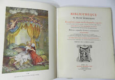 CATALOGUE DE LA BIBLIOTHEQUE DE FRANZ BEMELMANS - EDITION DE LUXE - AQUARELLES..