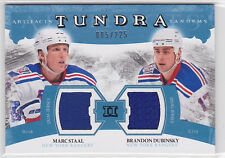 2011-12 Artifacts Tundra Tandems Jerseys Blue Marc Staal/Brandon Dubinsky 85/225