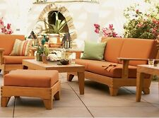 8 PC TEAK WOOD TEAKWOOD GARDEN OUTDOOR PATIO DEEP SEAT SOFA SET CARANAS DECK NEW