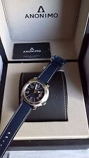 ANONIMO SAILOR Men's Swiss Made Automatic Watch Blue on Blue leather - BNIB