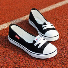 Women Summer Shallow Mouth Flat Casual Female Shoes wholesale Canvas Sneakers