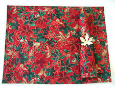 Crate & and Barrel HOLIDAY Leaves & Berries Placemats/Napkins/Rings- Set/4-NEW!