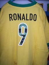 NIKE FOOTBALL BRASILE RONALDO R9 t-shirt uomo gialla e verde taglia XL usata new