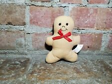 Gingerbread man plush. Christmas decor.  Holiday accent piece.
