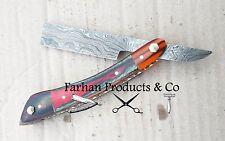 Full Damascus Steel Custom Straight Razor Knife Blade